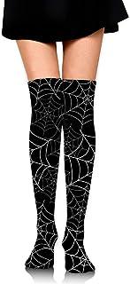 蜘蛛の巣 オーバーニー ソックス レディース ニーソックス ハイソックス 美脚 着圧 保温 防寒 かわいい 通学 通勤