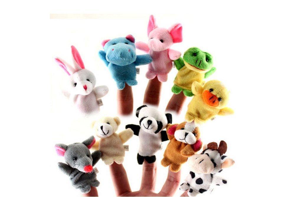 10款可爱卡通小动物手指玩偶 婴儿早教益智亲子玩具