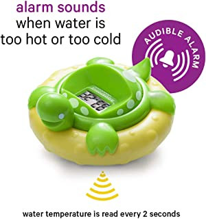 AQUATOPIA Floating Safety Bath Thermometer for Infants, Digital Audible Alarm, Beeps when..