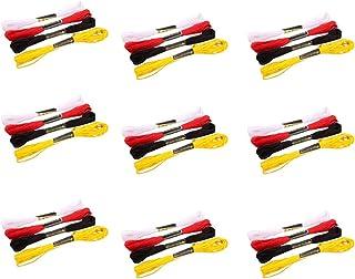 Healifty クロスステッチDIYクラフトのための24ロール刺繍フロスブレスレット文字列