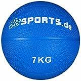 ScSPORTS® Medizinball für varaibles Training, Gewichtsball aus texturiertem Gummi für optimalen Grip, Gewicht 1 kg