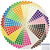 3920 pcs 3/4' Round Coding Circle Dot Labels with File Pocket , 14 Colors