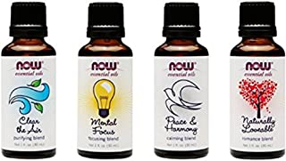 4-Pack: Now Foods Mood Lifting Variety Essential Oil Blends - 1oz Each