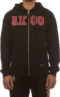 Abroad Zip Hoodie in Black & Racing Red 781-9310