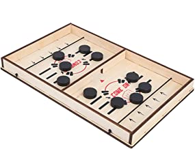 Fast Sling Puck Game, Family Games 2 In 1 Slingshot Table Ice Hockey For Kids Adults Interactive(Barnschack)