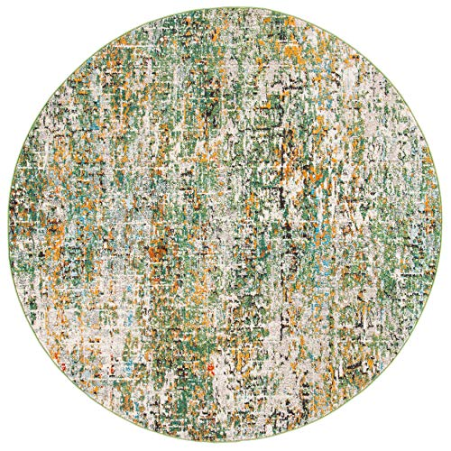 Safavieh Madison Collection MAD460Y Modern Abstract Non-Shedding Stain Resistant Living Room Bedroom Area Rug, 3