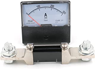 Baomain DH-670 DC 300A Analog Amp Panel Meter Current Ammeter with 75mV Shunt