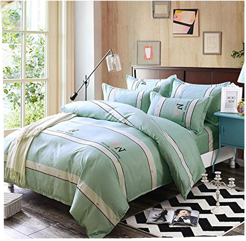 4pcs Novelty Design Combined Cotton Duvet Cover Set Flat Sheet Pillowcases (Queen, Vacation Pink)