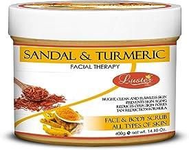 Luster Sandal & Turmeric Face & Body Cream Scrub (Paraben & Sulfate Free)-400g