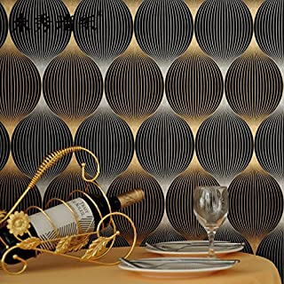 Axb-dmg Fashion Gold Foil Wallpaper Curve Abstract Stripe 3D Wallpaper