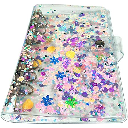 Jelly 6 Ringed Planner Binder Cover   Purple Holographic A5 Size