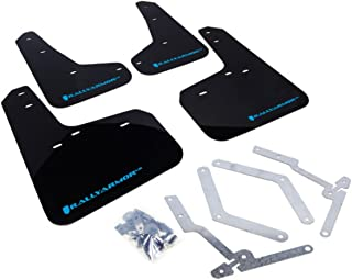 Rally Armor MF27-UR-BLK/NB Black, Blue Mud Flap with Logo (13-16 Ford ST /16-17 Focus RS UR)