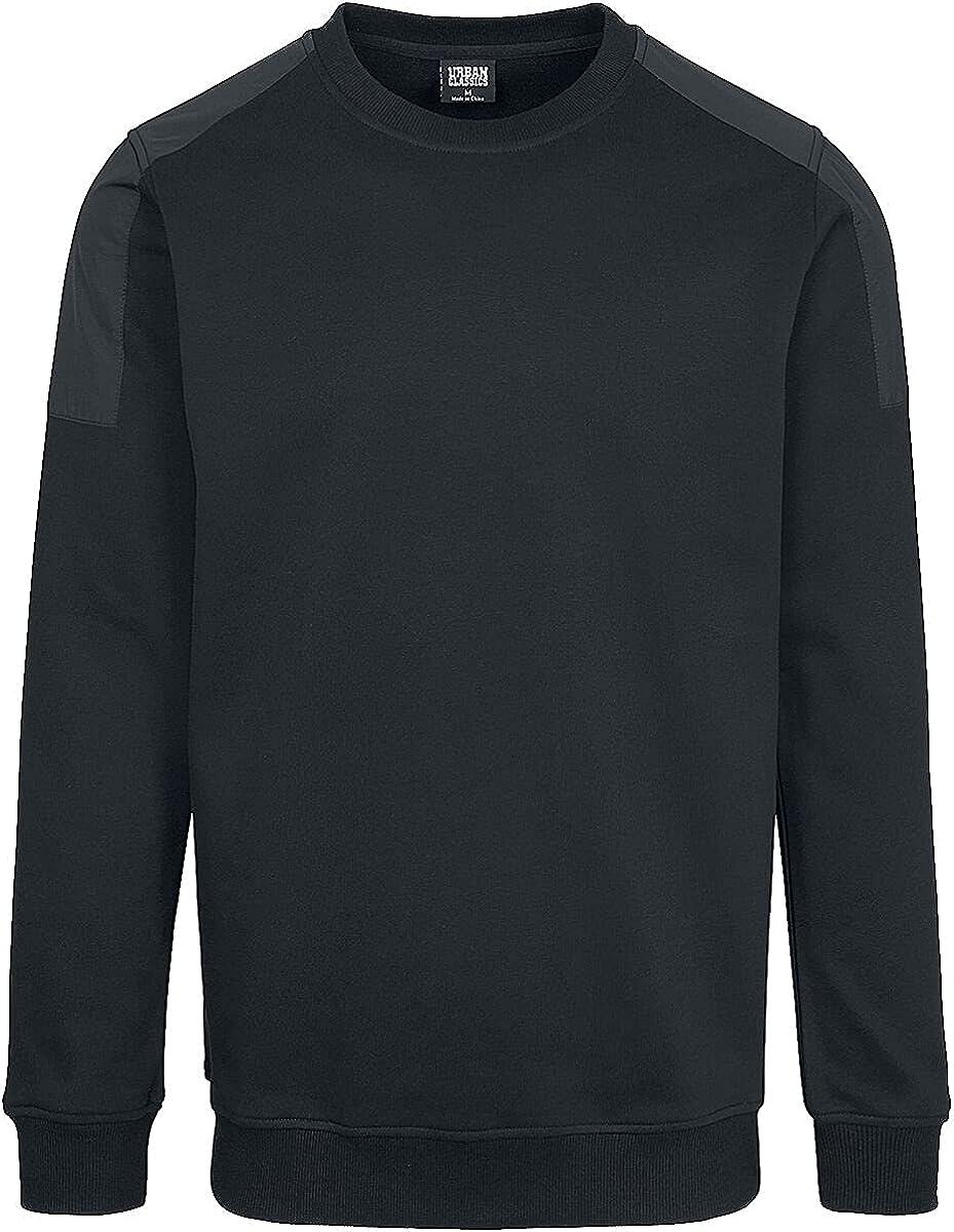 Urban Classics Men Sweatshirt Military Shoulder
