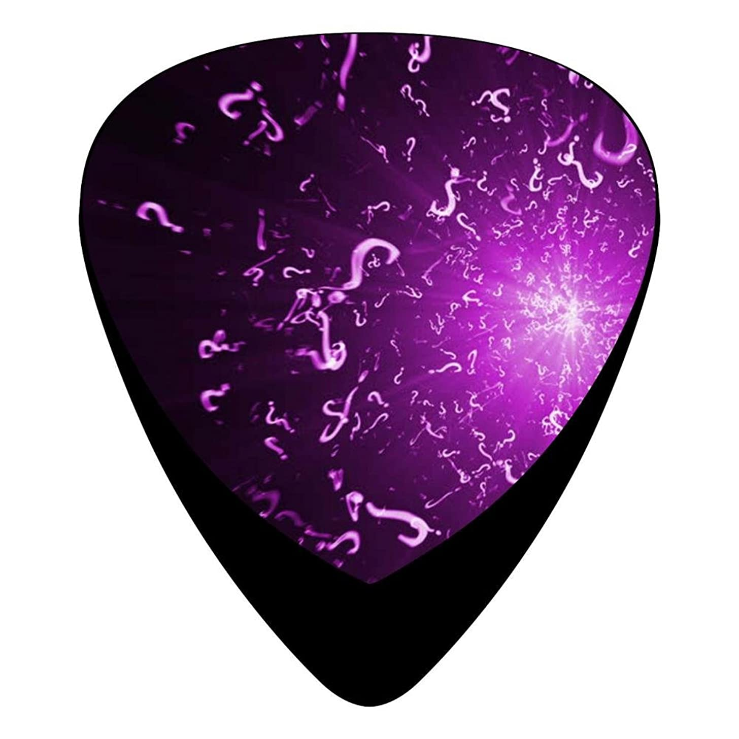 Guitar Picks Celluloid Question Mark Firework 12 Pack Shape For Acoustic Guitar Mandolin Electric Guitar And Bass