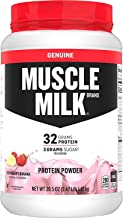 Muscle Milk Genuine Protein Powder, Strawberry Banana, 32g Protein, 2.47 Pound, 16 Servings