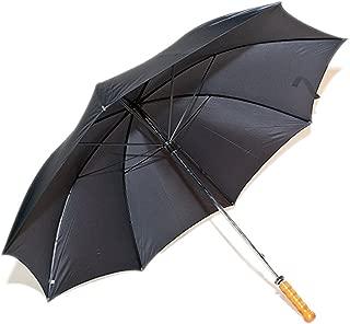 Umbrella Classic Black Umbrella - Wooden Shaft-Straight Handle