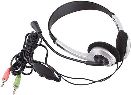 Dailyinshop Cuffie per Computer con Microfono Cuffie con cancellazione del Rumore per PC Leggere Cuffie cablate per Skype Business Phone Webinar, Sliver-Black - Trova i prezzi più bassi
