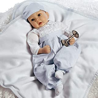Paradise Galleries Reborn Baby Boy in Silicone Vinyl, 22 inch Newborn Doll Royal Baby Prince George, 5-Piece Doll Ensemble
