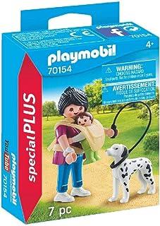 PLAYMOBIL 70154Special Plus Mamá con bebé y Perro,