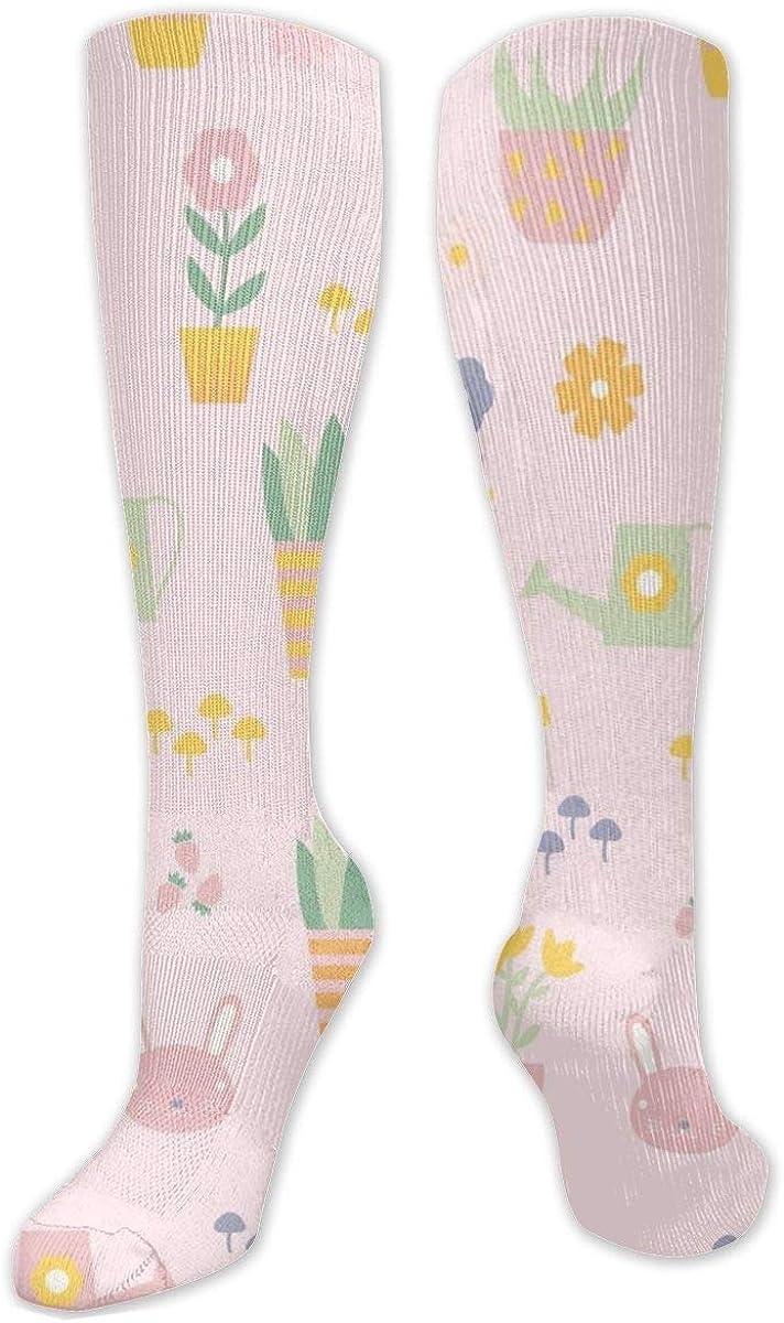 Flowers Pattern Knee High Socks Leg Warmer Dresses Long Boot Stockings For Womens Cosplay Daily Wear