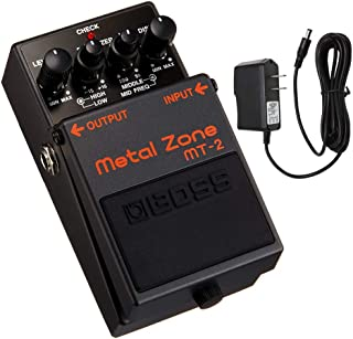 Boss MT-2 Metal Zone Distortion Guitar Pedal with PigHog PP9V Pig Power 9V DC 1000ma Power Supply