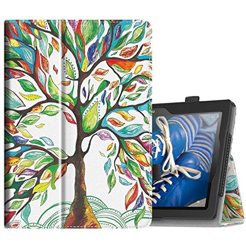TiMOVO Lenovo Tab 2 A10 / Tab 3 10 Case - Slim Folding Cover Smart Case for Lenovo Tab 2 A10-70 / Tab 2 A10-30 (TB2-X30F) / Tab 3 10 Business, LuckyTree