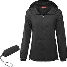 NEWMEEN Women UPf 50+ Lightweight Jacket Zip Up Packable Windbreaker with Pocket
