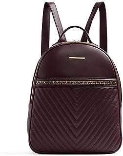 Aldo Aielli Fashion Backpack for Women - Polyurethane, Bordo