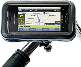 Unique Holder Mount for Bicycle or Motorcycle Handlebar Provides Weather Resistant and Secure Display of Sony Ericsson Xpe...