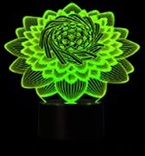 1 Pack 3D Lotus Flower Lamp LED Night Light Christmas Lights Baby Credible Fashionable Unicorn Star Bulbs Wall Room Lamps Indoor Outdoor Holiday Decorative