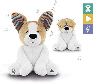 ZazuKids Peek-A-Boo Animated Puppy Plush Dog - Stuffed Animal Toy, Flapping Ears, Playful Music, Unisex Kids Danny The Dog
