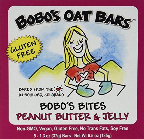 Bobo's Oat Bars Gluten Free Bites - Peanut Butter & Jelly - 1.3 OZ - 5 ct