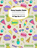 Primary Composition Notebook Story Paper Journal: Dashed Midline And Picture Space School Exercise Book | 120 Story Pages | funny stickers   (funny stickers Primary Composition Notebooks)