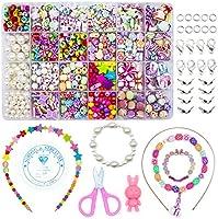 WONDERFORU Children DIY Beads for Jewellery Bracelet Necklaces String Making Kit, Friendship Bracelets Art Craft Kit for...