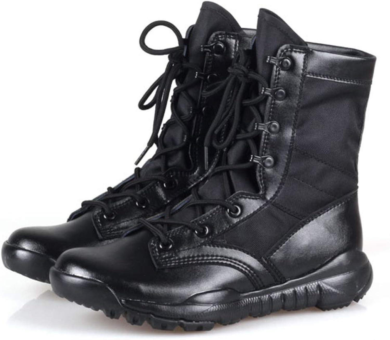 DANDANJIE Tactical Military Boots Men Sand Desert Breathable Lightweight Combat Boots for Fall High Desert Boots Mountain Climbing