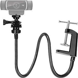 25 Inch Webcam Stand with Flexible Gooseneck Webcam Mount Stand, Enhanced Desk Jaw Clamp for Logitech Webcam C920,C922,C92...