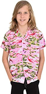 Island Style Clothing Boys Hawaiian Shirts Flamingo Floral Tropical Party Prints