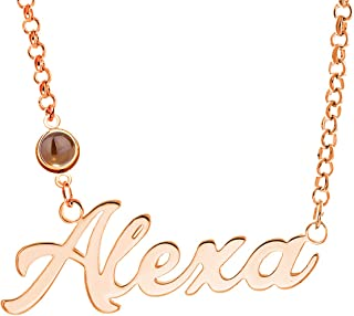 AsiaRhyme 925 Sterling Silver Personalized Name Necklace Pendant Custom Made with Any Names