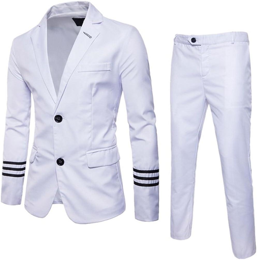 C2S Men's Blazer 2 PC Slim Fit Single Breasted Sport Coat & Pants Set