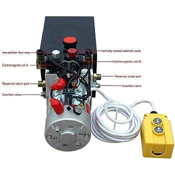 amazon.com: new 12v hydraulic pump /hydraulic power unit/electric dump  trailer power unit (double acting 6 quart ): home improvement  amazon.com