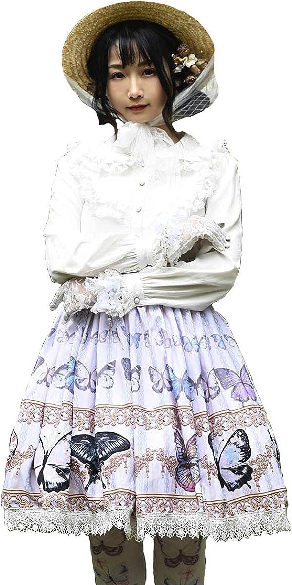 Lace Sweet Lolita SK Purple Butterfly Print Lolita Skirts