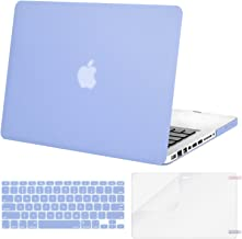 MOSISO Plastic Hard Shell Case & Keyboard Cover & Screen Protector Only Compatible with Old Version MacBook Pro 13 Inch (A1278, with CD-ROM), Release Early 2012/2011/2010/2009/2008, Serenity Blue