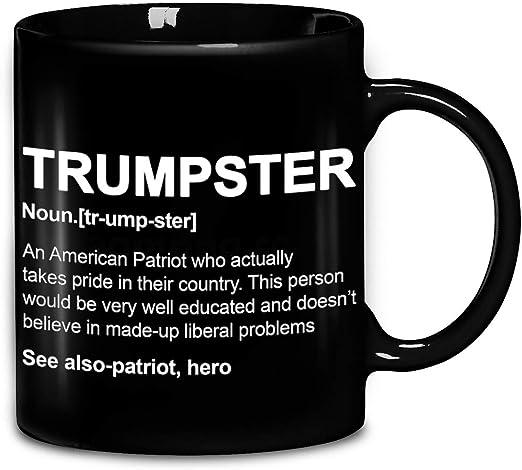 Amazon Com Definition Trumpster An American Patriot Coffee Mug 11oz 15oz Ceramic Tea Cups Kitchen Dining