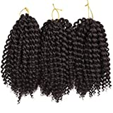 2# : 3 Bundles/pack Marlybob Kinky Curl (2#) 8'' Synthetic Crochet Braids Hair