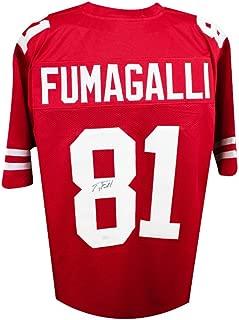 Troy Fumagalli Autographed Wisconsin Badgers Custom Red Football Jersey JSA COA