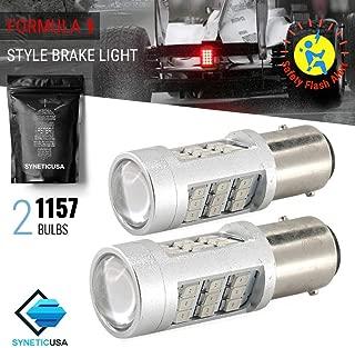 1157 Red LED Stop Brake Flash Strobe Rear Alert Safety Warning 33-LED Light Bulbs