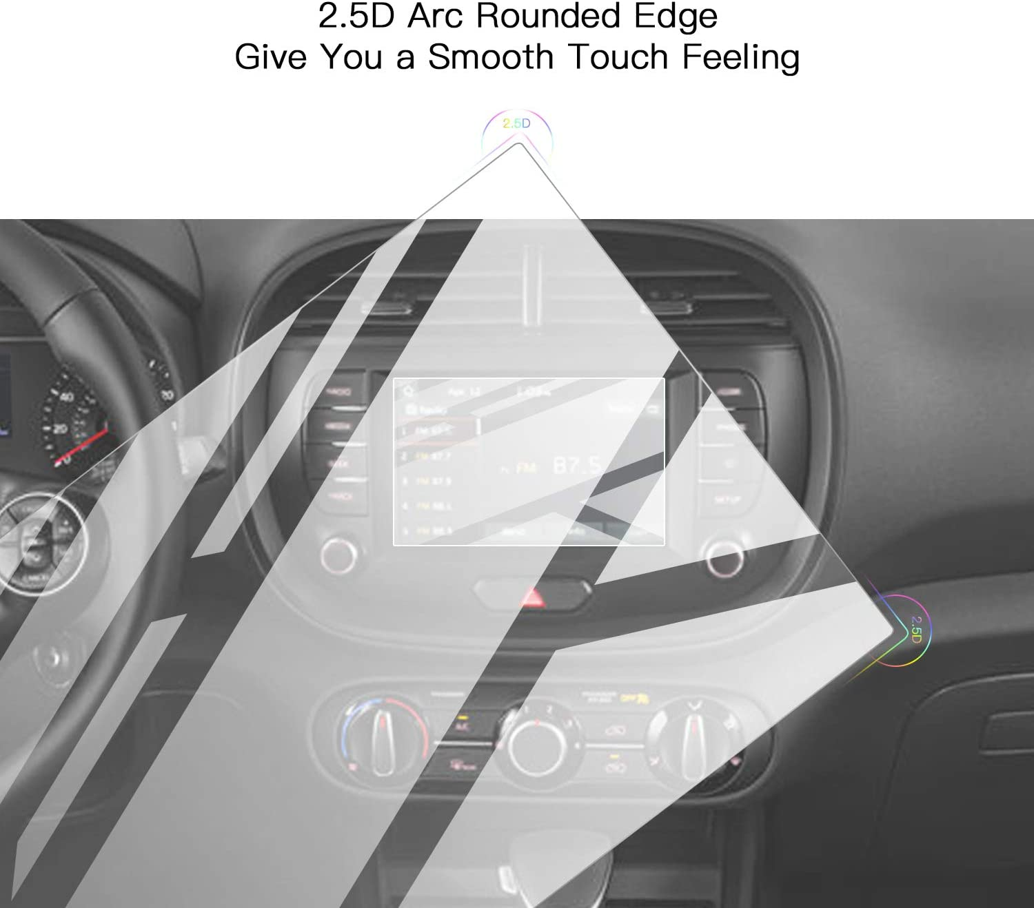 10.25In Screen Protector Film for 2020 2021 Soul EV Soul Booster Navigation Display Tempered Glass 9H Hardness Anti-Explosion /& Scratch HD Clear Kia GPS LCD Touch Screen Protector Foils