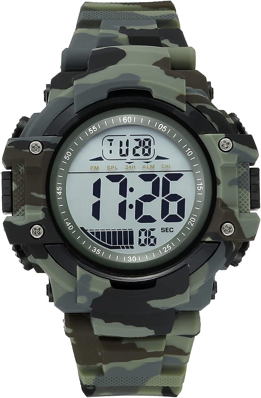 JONFRED Nippon regular agency Mens Digital Sports Watch Large Wa Wrist Face Waterproof Online limited product