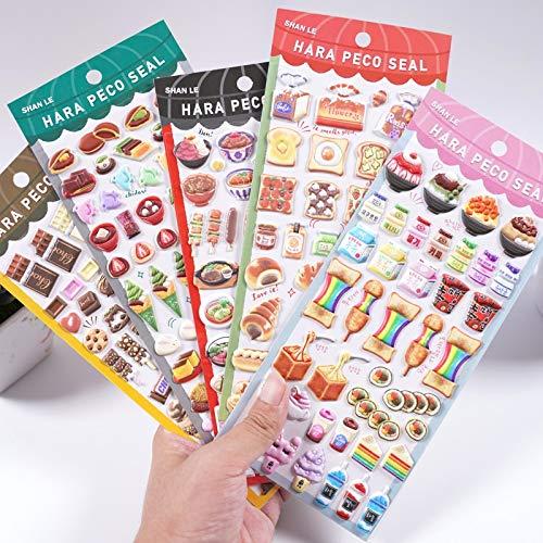BLOUR Lindo Pastel de Comida Deliciosa Helado de Chocolate Pegatinas 3D hinchadas Scrapbooking DIYpapelería Pegatinas Coreanas
