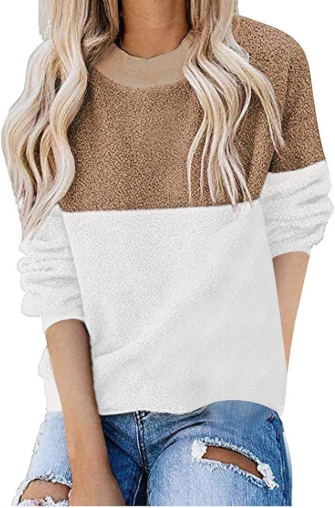 Orfilaly Women's Long Sleeve It is Fashion very popular Fuzzy Sweatshirt Fleece Wi Pullover